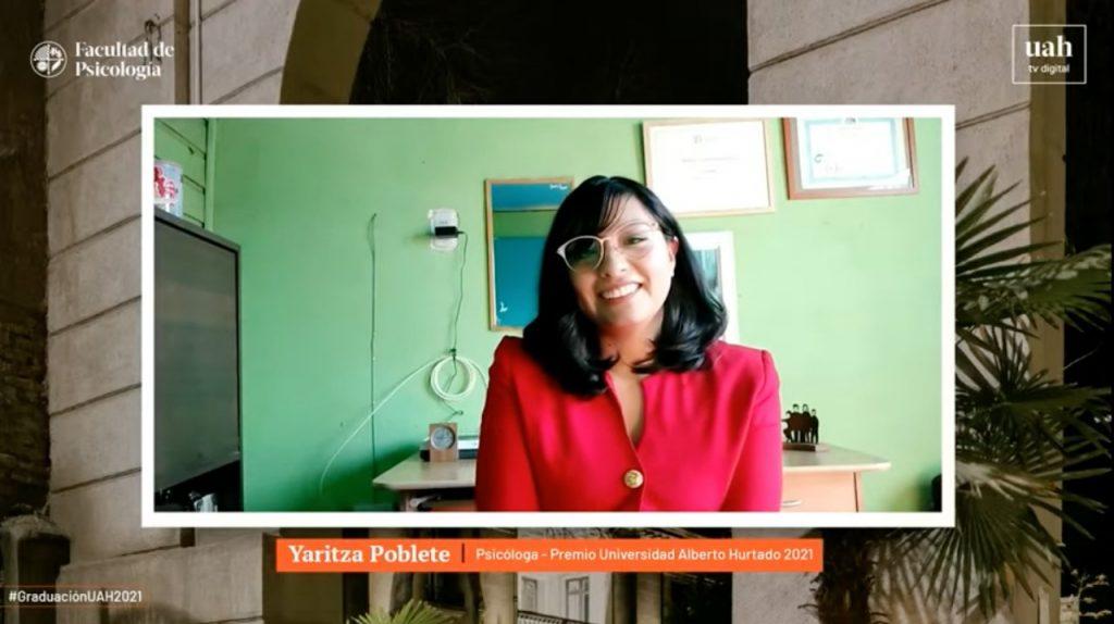Estudiante Yaritza Poblete, premio Universidad Alberto Hurtado 2021