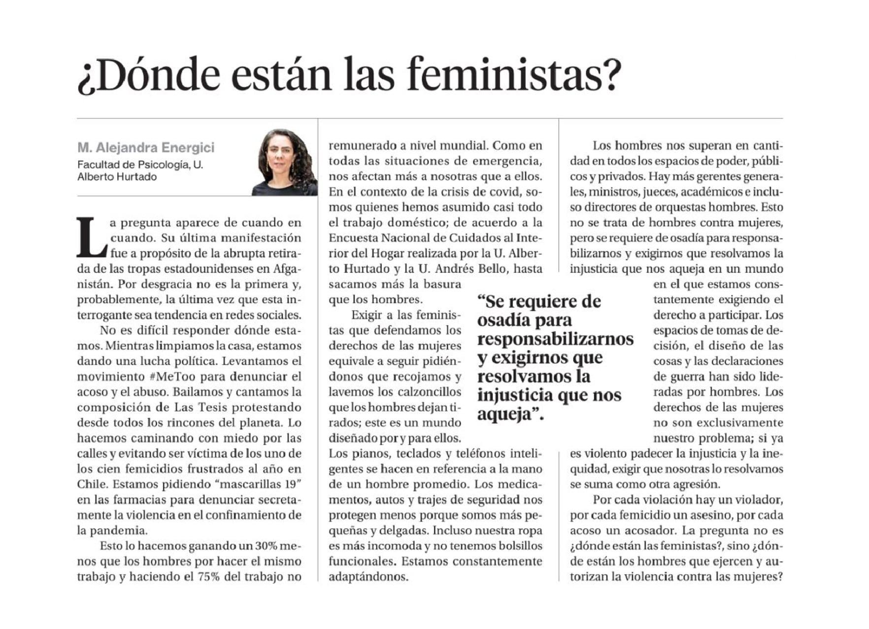 ¿Dónde están las feministas?
