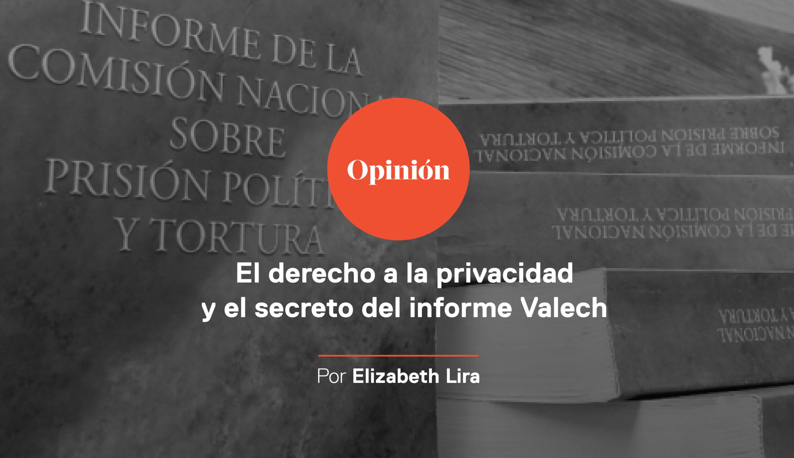 El derecho a la privacidad y el secreto del informe Valech